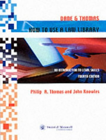 9780421744103: Dane & Thomas: How to Use a Law Library