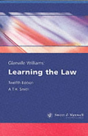 9780421744202: Glanville Williams: Learning the law