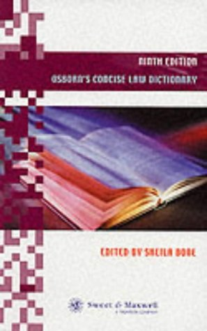 9780421753402: Osborn's Concise Law Dictionary