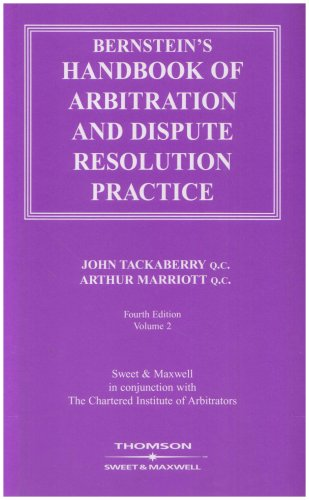9780421757608: Bernstein's Handbook of Arbitration and Dispute Resolution Practice