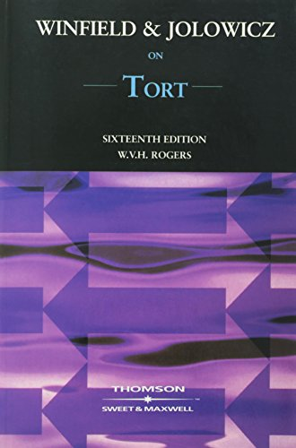9780421768505: Winfield and Jolowicz on Tort
