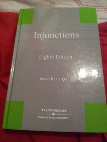 9780421778108: Injunctions (Practitioner)