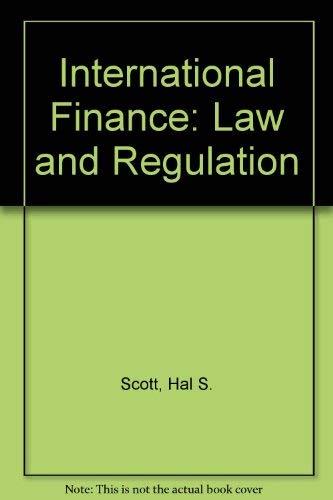 9780421780606: International Finance: Law and Regulation