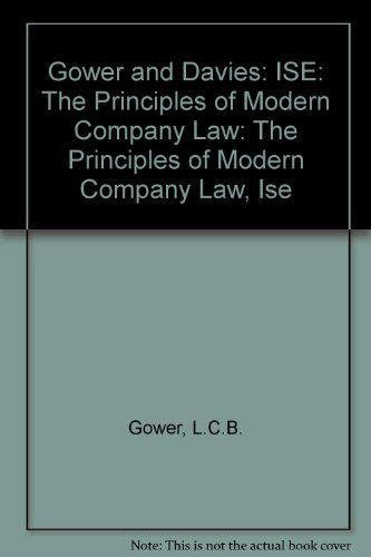 9780421788008: Gower & Davies' Principles of Modern Company Law