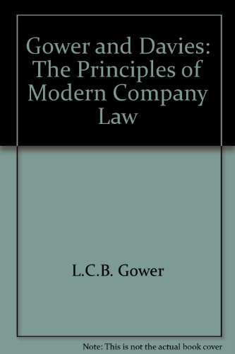 9780421788107: Gower & Davies: The Principles of Modern Company Law