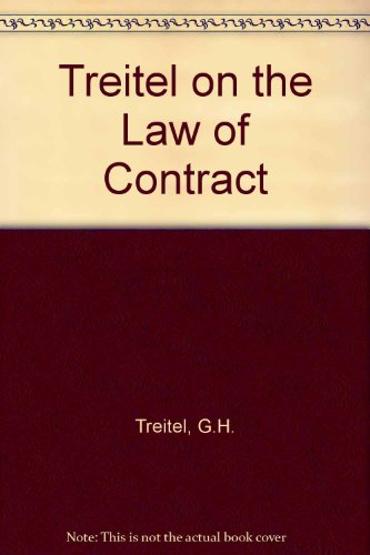 9780421788404: Treitel on the Law of Contract
