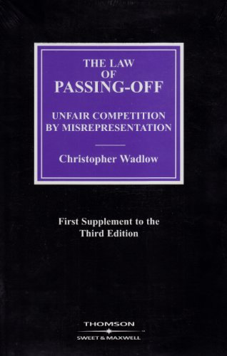 9780421789203: The Law of Passing-off: Unfair Competition by Misrepresentation (Intellectual Property Library)