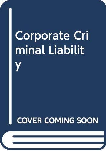 9780421792807: Corporate Criminal Liability