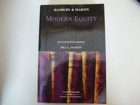 9780421798205: Hanbury and Martin : Modern Equity, Ise