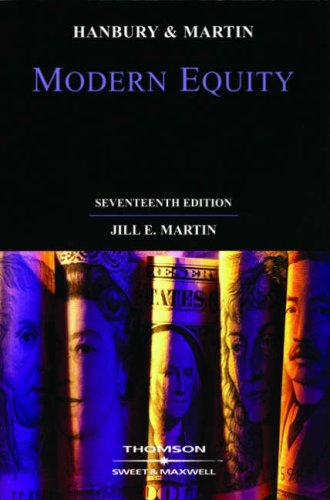 9780421798403: Hanbury & Martin: Modern Equity