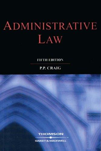 9780421799202: Administrative Law