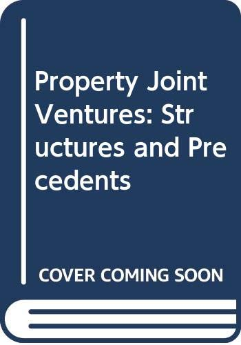Property Joint Ventures: Structures and Precedents (0421825006) by Magnus, Alan; Kidby, Robert; Bernstein, Ronald