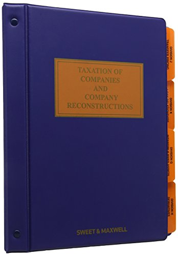 9780421827202: Taxation of Companies and Company Reconstructions