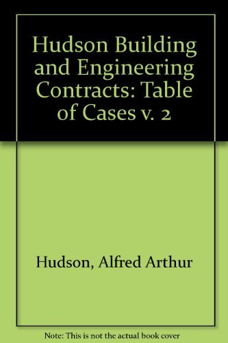 9780421827301: The Hudson Fourth Edition Volume 2 Table of Cases A Reprint (v. 2)
