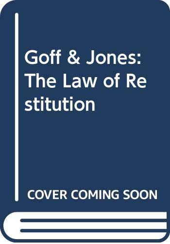 9780421828209: Goff & Jones: The Law of Restitution (Common Law Library)