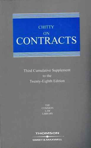 9780421829008: Chitty on Contracts,: 3rd Supplement (Common Law Library)