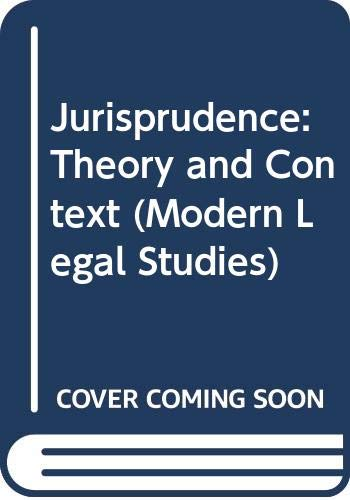 9780421830103: Jurisprudence: Theory & Context, 3rd edition