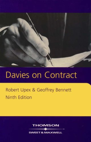9780421830608: Davies on Contract (Concise Course Texts)