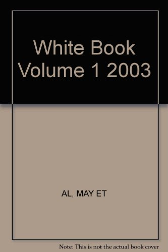 9780421841307: White Book Volume 1 2003