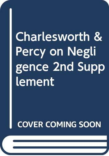 9780421848801: Charlesworth & Percy on Negligence 2nd Supplement
