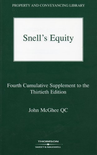 Snell's Equity: 4th Supplement: McGhee, J.