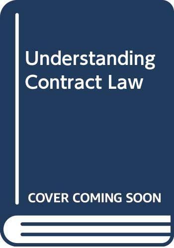 9780421858503: Understanding Contract Law