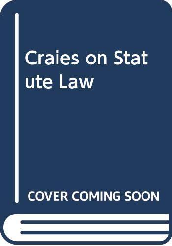 9780421859609: Craies on Statute Law