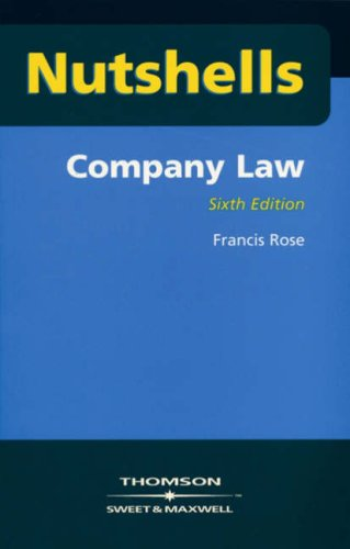 Company Law (Nutshells) (0421860405) by Rose, Francis