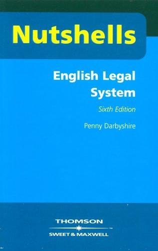 9780421860605: Nutshells English Legal System