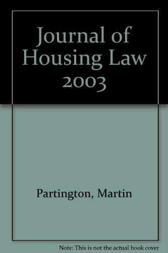 9780421869806: Journal of Housing Law - AbeBooks - Martin