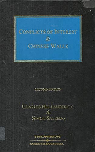 9780421878105: Conflicts of Interest and Chinese Walls