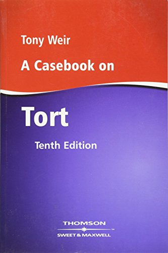 9780421878808: A Casebook on Tort