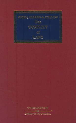 9780421883604: Dicey, Morris and Collins on the Conflict of Laws
