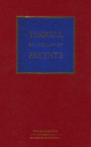 9780421886506: Terrell on the Law of Patents