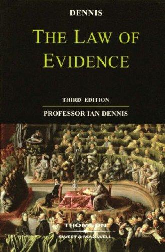 9780421888500: The Law of Evidence