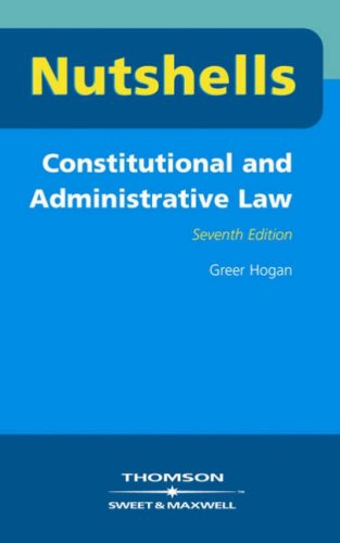 9780421890909: Constitutional and Administrative Law (Nutshells)