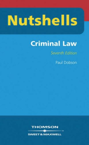 9780421891104: Criminal Law (Nutshells)