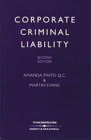 9780421894105: Corporate Criminal Liability