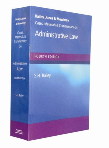Bailey, Jones and Mowbray: Cases, Materials and: A.R. Mowbray