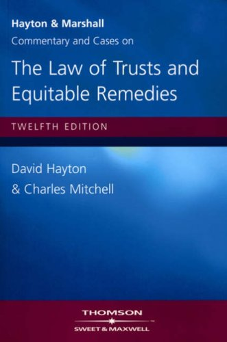 9780421901902: Hayton & Marshall: Commentary & Cases on the Law of Trusts & Equitable Remedies