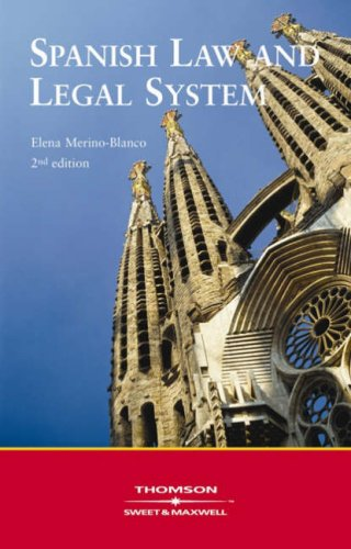 9780421902305: Spanish Law and Legal System