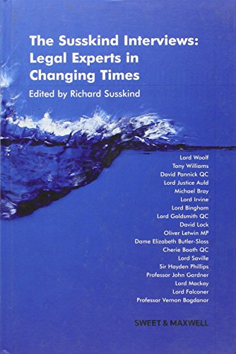 9780421912601: The Susskind Interviews: Legal Experts in Changing Times