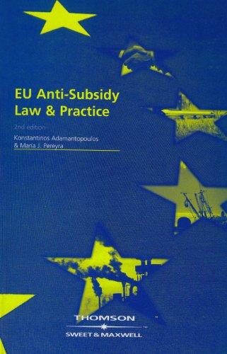 9780421915206: EU Anti-Subsidy Law & Practice