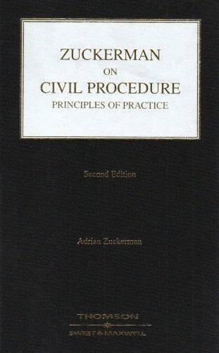 9780421919105: Zuckerman on Civil Procedure: Principles of Practice