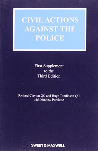 9780421922600: Civil Actions against the Police 1st Supplement