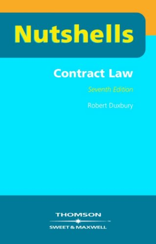 9780421924109: Nutshells Contract Law