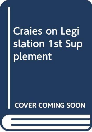 9780421927407: Craies on Legislation 1st Supplement: Craies on Legislation 1st Supplement