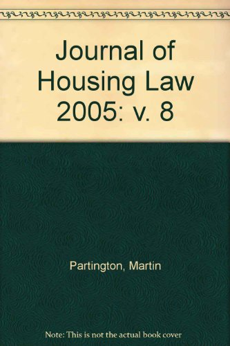 9780421931503: Journal of Housing Law (v  8) - AbeBooks - Martin