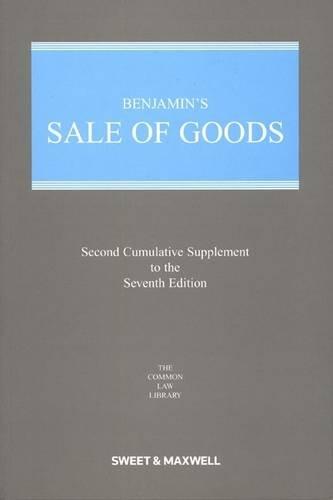 Benjamin's Sale of Goods 2nd Supplement: Bridge, M. \(Ed.\)