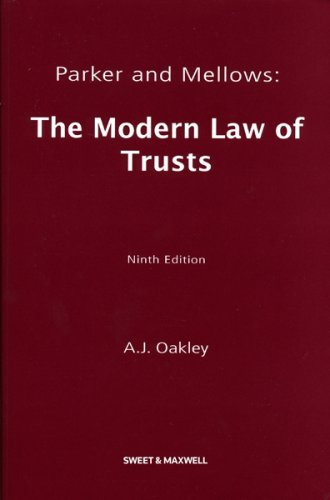 9780421945906: Parker and Mellows: The Modern Law of Trusts